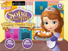 Sofia The First Cooking Pumpkin Tart