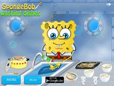 Spongebob Washing Dishes