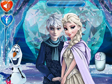 Sweet Kissing Elsa and Jack