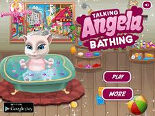 Talking Angela Bathing