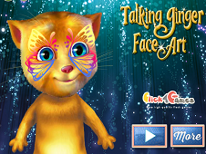 Talking Ginger Face Art