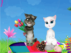 Talking Tom And Angela Valentines Day