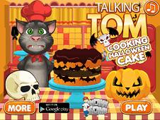 Talking Tom Halloween Cake