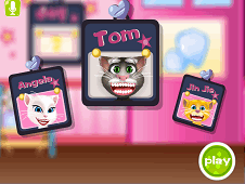 Talking Tom Teeth Decoration