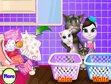 Talking Tom Washing Clothes