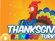 Thanksgiving Rainbow Turkey