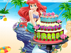 The Little Mermaid Cake Decor