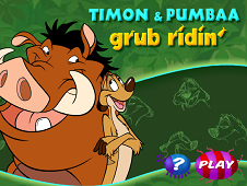Timon and Pumba Grub Ridin