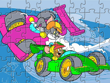 Tom And Jerry Racing Puzzle