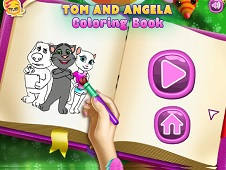 Tom and Angela Coloring Book