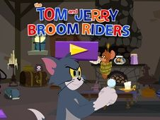Tom and Jerry Broom Riders