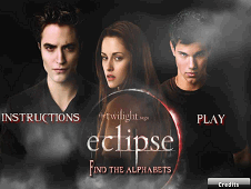Twilight Saga Eclipse Find The Alphabets