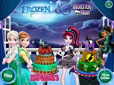 Frozen-Monster High Cake Decor
