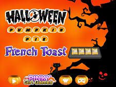 Halloween Pumpkin Pie French Toast