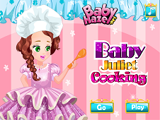 Baby Juliet Cooking