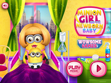 Minion Girl And The New Born Baby