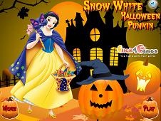 Snow White Halloween Pumpkin