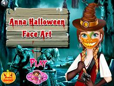 Anna Halloween Face Art