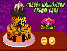 Creepy Halloween Cream Cake