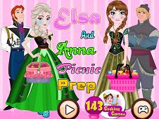 Elsa And Anna Picnic Prep