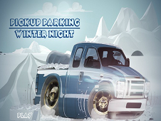 Pickup Party Parking Winter Night