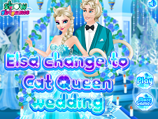 Elsa Change To Cat Queen Wedding