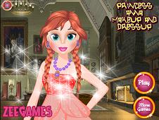 Princess Anna Makeup and Dressup