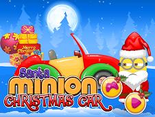 Santa Minions Christmas Car