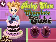 Elsa Baby Chocolate Cake
