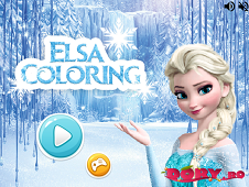 Elsa Frozen Coloring