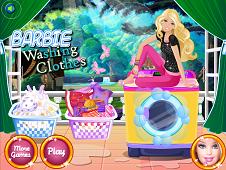 Princess Barbie Washing