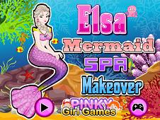 Elsa Mermaid Spa Makeover
