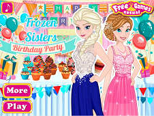Frozen Sisters Birthday Party 2