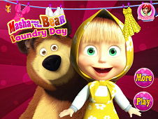 Masha And The Bear Laundry Day