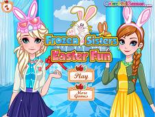 Frozen Sisters Easter Fun