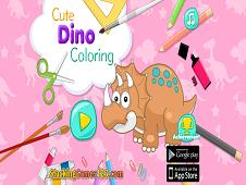 Cute Dino Coloring