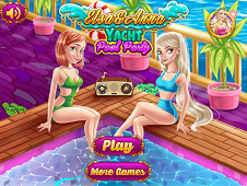 Elsa and Anna Yacht Pool Party