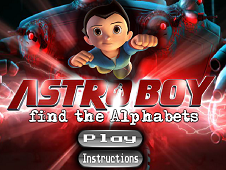 Astroboy Find The Alphabets