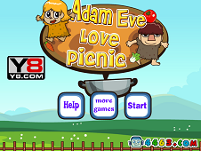 Adam and Eve Love Picnic