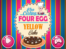 Elsa Cooking Four Egg Yellow Cake