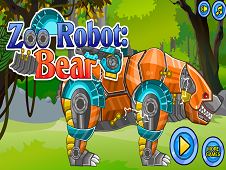 Zoo Robot Bear