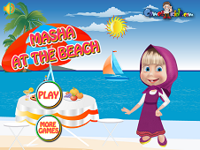 Masha At The Beach