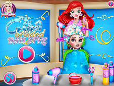 Elsa Braided Hairstyle