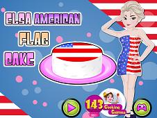Elsa American Flag Cake