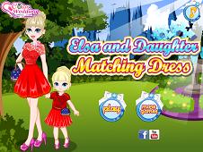 Elsa and Daughter Matching Dress