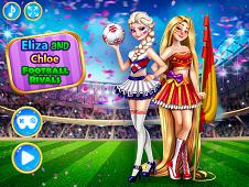 Elsa and Rapunzel Football Rivals