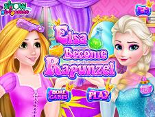 Elsa Become Rapunzel