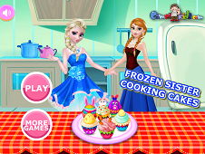 Frozen Sisters Cooking Cake
