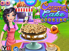 Caramel Layer Cake Cooking