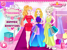 Disney Princesses Summer Shopping